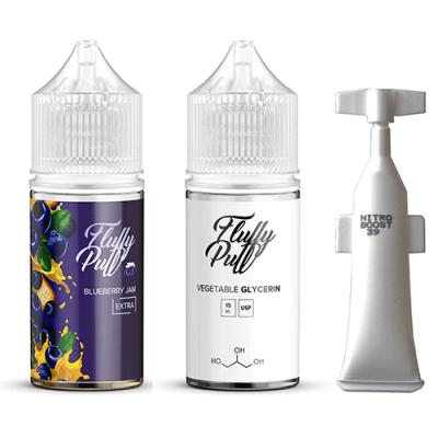 Купить Набор Fluffy puff extra salt - Blueberry Jam 25mg 30ml  по оптимальной цене и доставкой по Киеву и Украине.