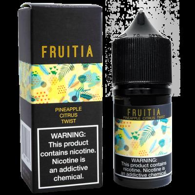 Купить Жидкость Fruitia SALT - Pineapple Citrus Twist 30ml  по демократичной цене и доставкой по Киеву и Украине.