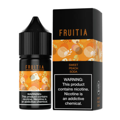 Жидкость Fruitia SALT - Sweet Peach Soda 30ml